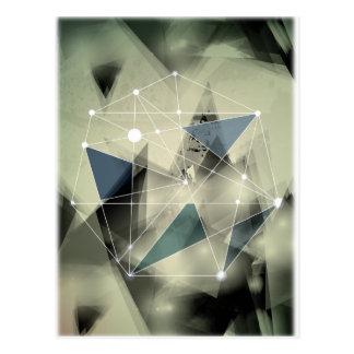 Wellcoda Crazy Abstract Print Geometric Postcard