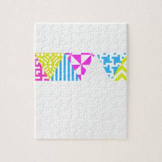 Wellcoda Crazy Aztec Colour Fun 80's Look Jigsaw Puzzle