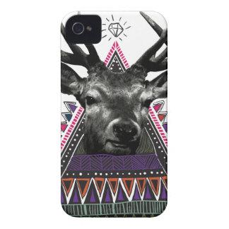 Wellcoda Crazy Tribal Deer Stag Animals iPhone 4 Case-Mate Case