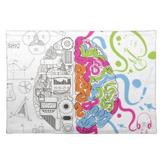 Wellcoda Creative Brain Mind Master Side Placemat