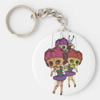 Wellcoda Creepy Freaky Doll Bad Life Toy Basic Round Button Keychain