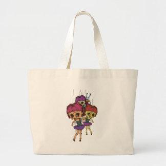 Wellcoda Creepy Freaky Doll Bad Life Toy Large Tote Bag
