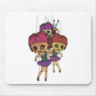 Wellcoda Creepy Freaky Doll Bad Life Toy Mouse Pad