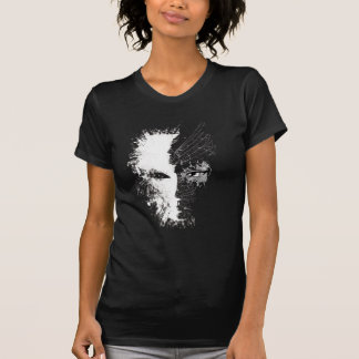 Wellcoda Creepy Half Lady Face Crack Mask T-Shirt