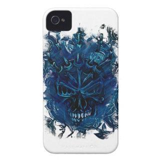 Wellcoda Creepy Horror Skull Scary Mask iPhone 4 Case-Mate Case