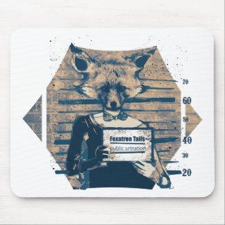 Wellcoda Criminal Fox Crime Offender Foxy Mouse Pad