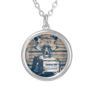 Wellcoda Criminal Fox Crime Offender Foxy Silver Plated Necklace