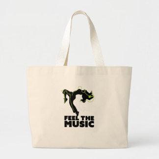 Wellcoda Dance Feel The Music Headphone Large Tote Bag