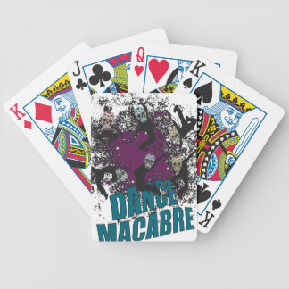 Wellcoda Dance Macabre Skull Happy Crazy Bicycle Playing Cards