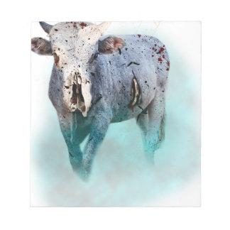 Wellcoda Dead Cow In Blood Animal Death Notepad