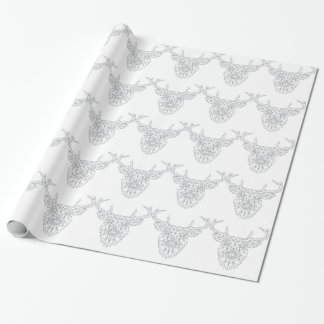 Wellcoda Dear Oh Deer Animal Crazy Stag Wrapping Paper