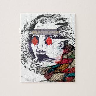 Wellcoda Diamond Eye Face Vibe Graphic Jigsaw Puzzle