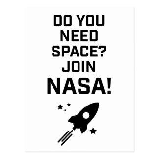 Wellcoda Do You Need Space? Join Nasa Fun Postcard