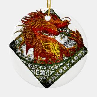 Wellcoda Dragon Fantasy Beast Oriental Ceramic Ornament