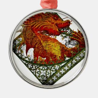 Wellcoda Dragon Fantasy Beast Oriental Metal Ornament