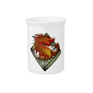 Wellcoda Dragon Fantasy Beast Oriental Pitcher