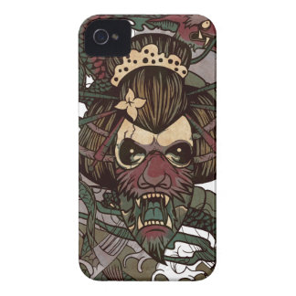 Wellcoda Dragon Ornament Freaky Monster iPhone 4 Case-Mate Case