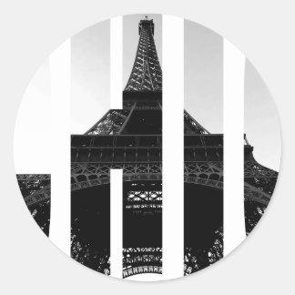 Wellcoda Eiffel Tower Chic Swag Paris Love Classic Round Sticker