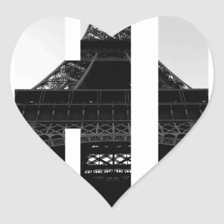 Wellcoda Eiffel Tower Chic Swag Paris Love Heart Sticker