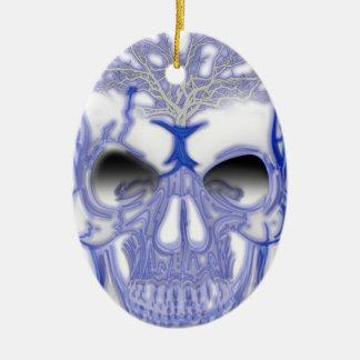 Wellcoda Electric Skull Shock Face Bolt Ceramic Ornament