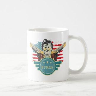 Wellcoda Elvy Skull Head USA American Gun Coffee Mug