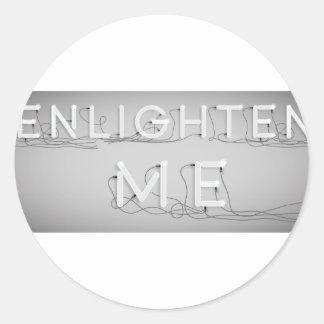 Wellcoda Enlighten Me Electric Bulb Lamp Classic Round Sticker