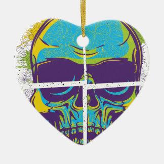 Wellcoda Epic Party DJ Skull Dead Summer Ceramic Ornament