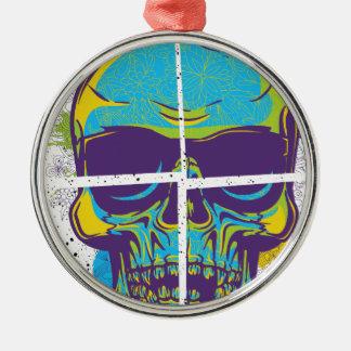 Wellcoda Epic Party DJ Skull Dead Summer Metal Ornament