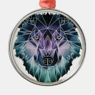 Wellcoda Epic Summer Wolf Face Nature Fun Metal Ornament