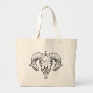 Wellcoda Evil Animal Skull Sacrifice Head Jumbo Tote Bag