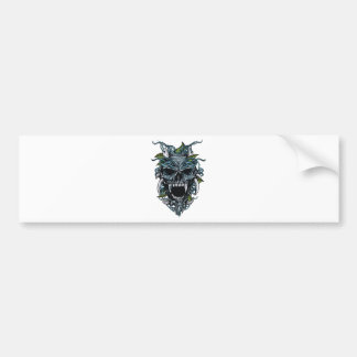 Wellcoda Evil Horror Skull Scary Mask Bumper Sticker
