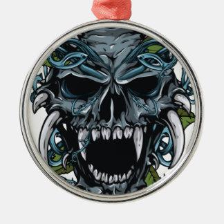 Wellcoda Evil Horror Skull Scary Mask Metal Ornament