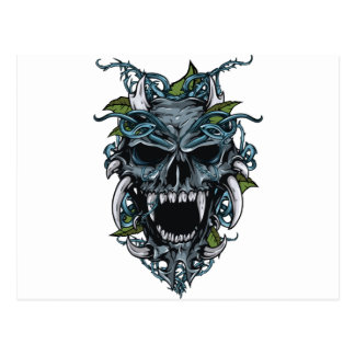 Wellcoda Evil Horror Skull Scary Mask Postcard
