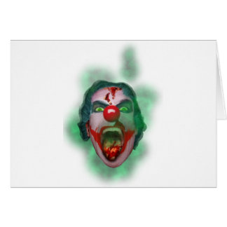 Wellcoda Evil Joker Clown Face Crazy Head Card