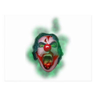 Wellcoda Evil Joker Clown Face Crazy Head Postcard