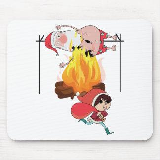 Wellcoda Evil Kid Cook Santa Claus Roast Mouse Pad