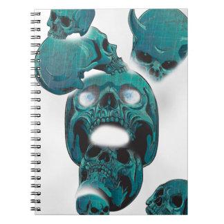 Wellcoda Evil Skull Horror Creepy Face Notebook