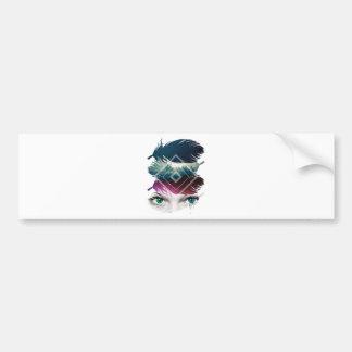 Wellcoda Eye Feather Fantasy Galaxy Sky Bumper Sticker