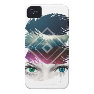 Wellcoda Eye Feather Fantasy Galaxy Sky iPhone 4 Case-Mate Case
