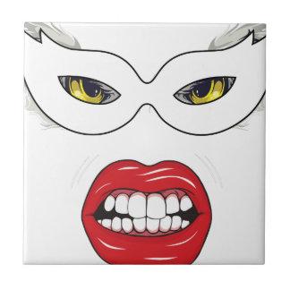 Wellcoda Eye Mask Domino Freak Fake Face Ceramic Tile