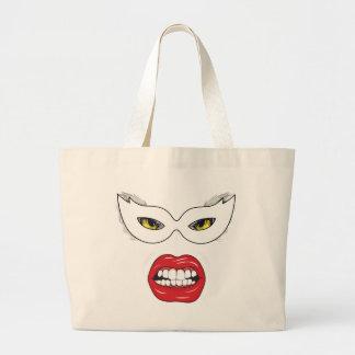 Wellcoda Eye Mask Domino Freak Fake Face Large Tote Bag