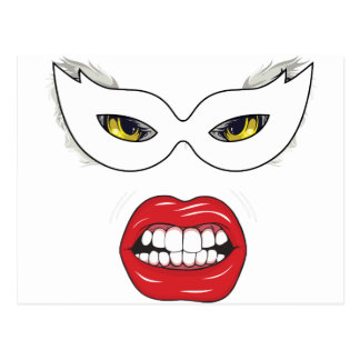 Wellcoda Eye Mask Domino Freak Fake Face Postcard