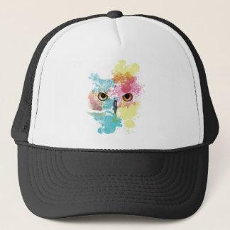 Wellcoda Fantasy Animal Owl Beautiful Eye Trucker Hat