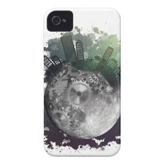 Wellcoda Fantasy Planet World Globe City iPhone 4 Case