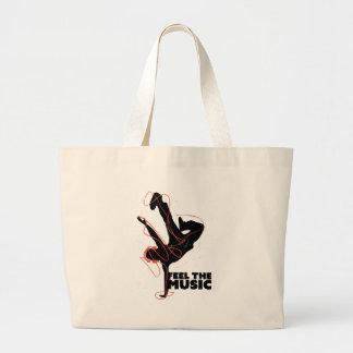 Wellcoda Feel The Music Dance Headphone Large Tote Bag