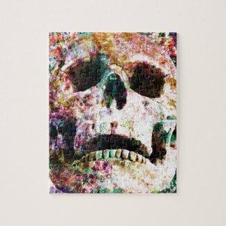 Wellcoda Flower Bed Skull Life Grave Yard Jigsaw Puzzle