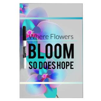 Wellcoda Flower Bloom And Hope Happy Time Dry Erase Board