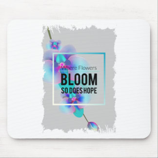 Wellcoda Flower Bloom And Hope Happy Time Mouse Pad