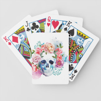 Wellcoda Flower Dead Bed Skull Grave Yard Bicycle Playing Cards