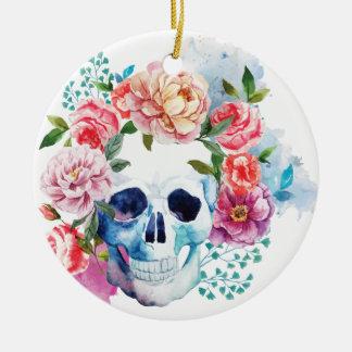 Wellcoda Flower Dead Bed Skull Grave Yard Ceramic Ornament